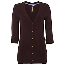 Buy White Stuff Jive Cardigan, Burgundy Butterfly Online at johnlewis.com