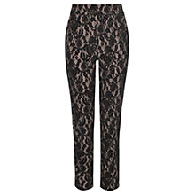 Buy Coast Darwin Flocked Lace Trousers, Multi Online at johnlewis.com
