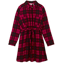 Buy Fat Face Dulcie Check Dress, Flame Online at johnlewis.com