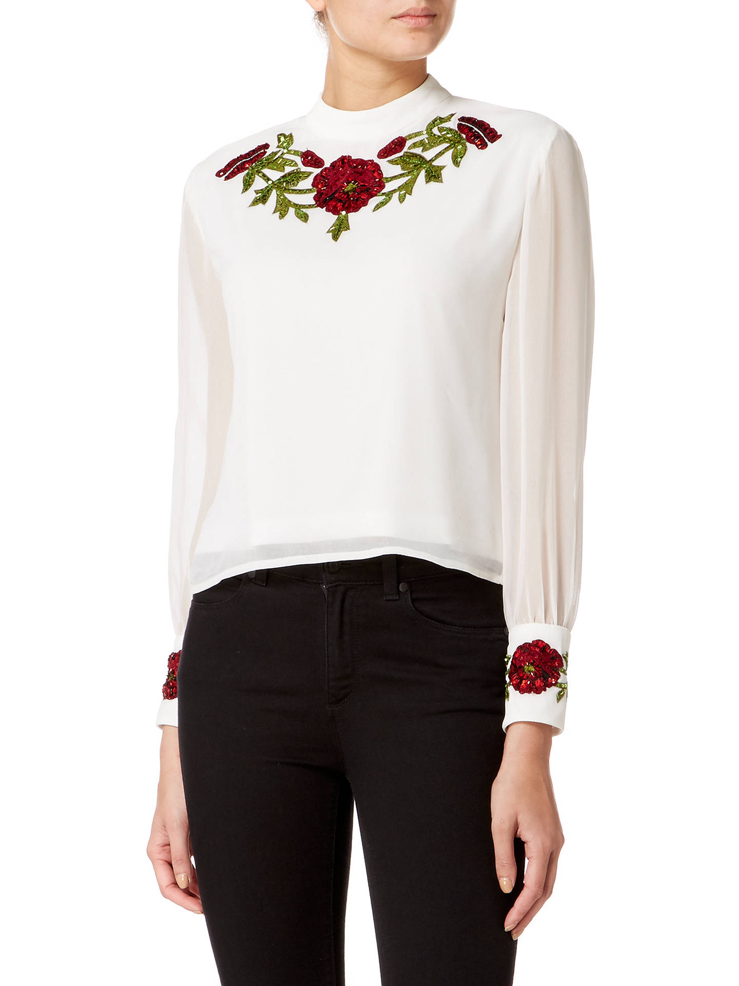 BuyRaishma Poppy Blouse, White, 8 Online at johnlewis.com