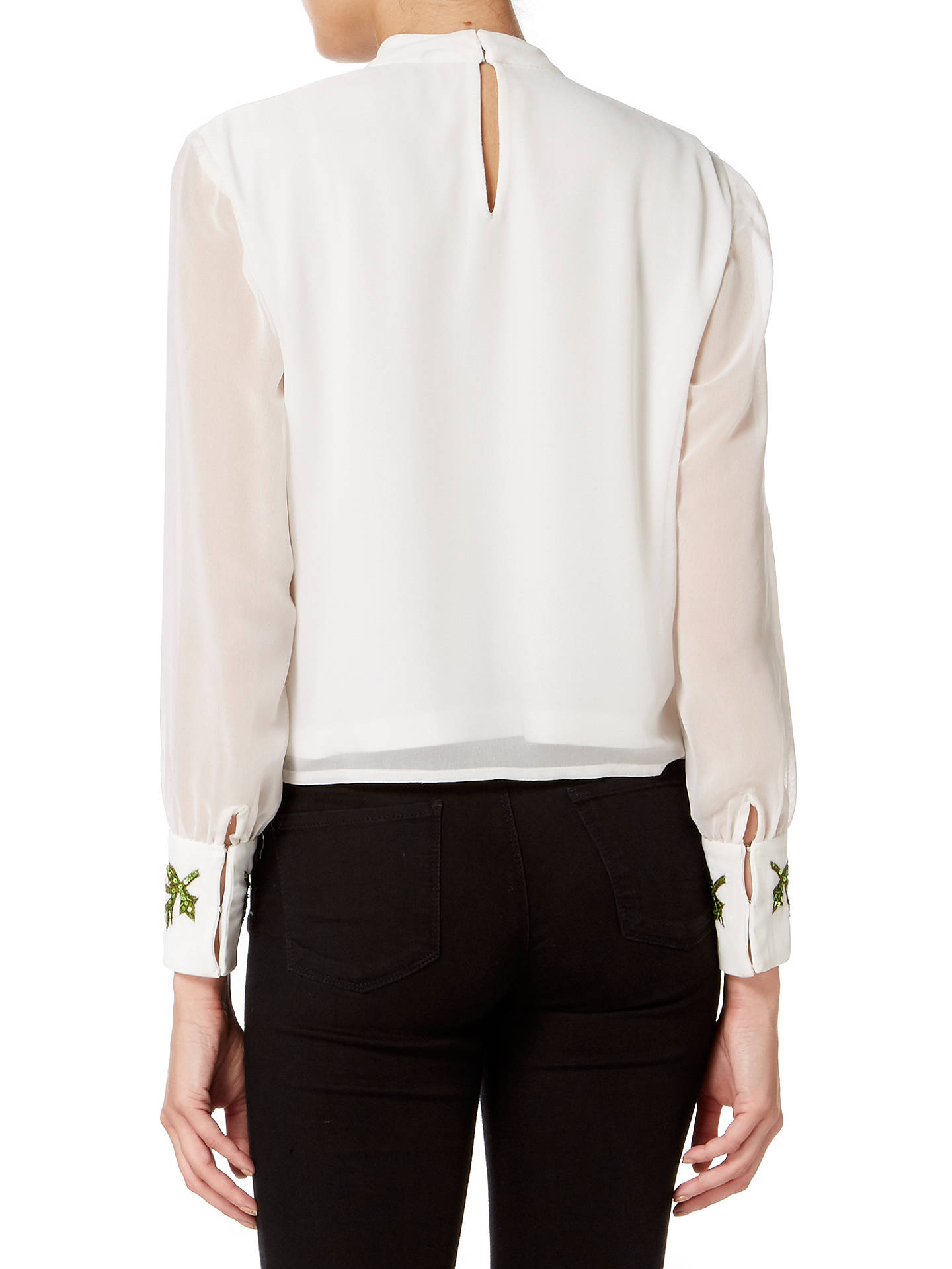 Buy Raishma Poppy Blouse, White, 16 Online at johnlewis.com