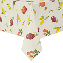 Buy John Lewis Villa Toscana Veg Garden Wipe Clean Tablecloth Online at johnlewis.com