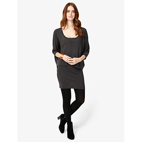 Buy Phase Eight Carmen Double Layer Knitted Dress, Charcoal Online at johnlewis.com