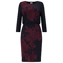 Buy Phase Eight Nanette Dress, Navy/Port Online at johnlewis.com