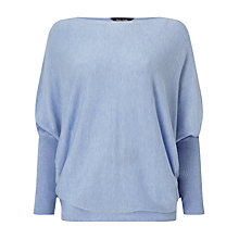 Buy Phase Eight Becca Batwing Long Sleeve Jumper,  Soft Blue Online at johnlewis.com