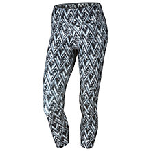 Buy Nike Power Legend Geo Print Training Capri Tights, Grey Online at johnlewis.com