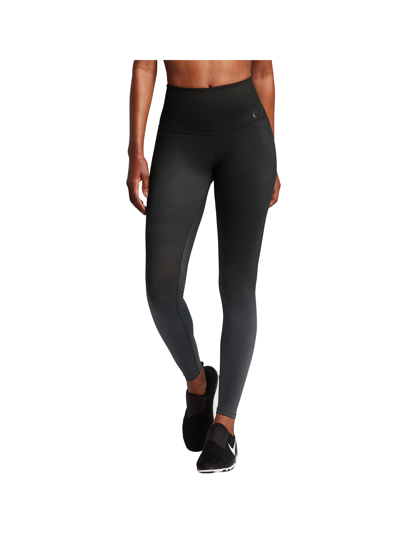 368058097c6b5 Buy Nike Zonal Strength Training Tights, Black, XS Online at johnlewis.com  ...
