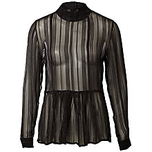 Buy Selected Femme Smilla Blouse, Black Online at johnlewis.com