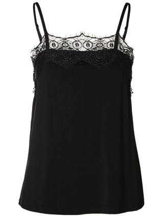 Buy Selected Femme Lacy Cami, Black, XS Online at johnlewis.com