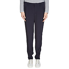 Buy Oui Slim Stripe Trim Trousers, Navy Online at johnlewis.com