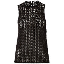 Buy Selected Femme Diny Sleeveless Lace Top, Black Online at johnlewis.com