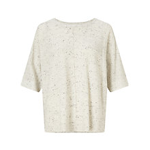 Buy Oui Tweed Effect Jumper, Light Grey Online at johnlewis.com