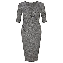 Buy Oui Cross Jersey Dress, Dark Grey Online at johnlewis.com