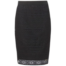 Buy Tommy Hilfiger Jules Pencil Skirt, Jet Black Online at johnlewis.com