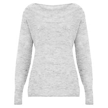 Buy Finery Hudson Off Shoulder Mohair Jumper, Grey Marl Online at johnlewis.com
