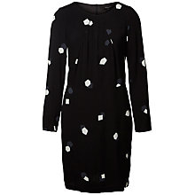 Buy Selected Femme Penny Printed Dress, Black Online at johnlewis.com