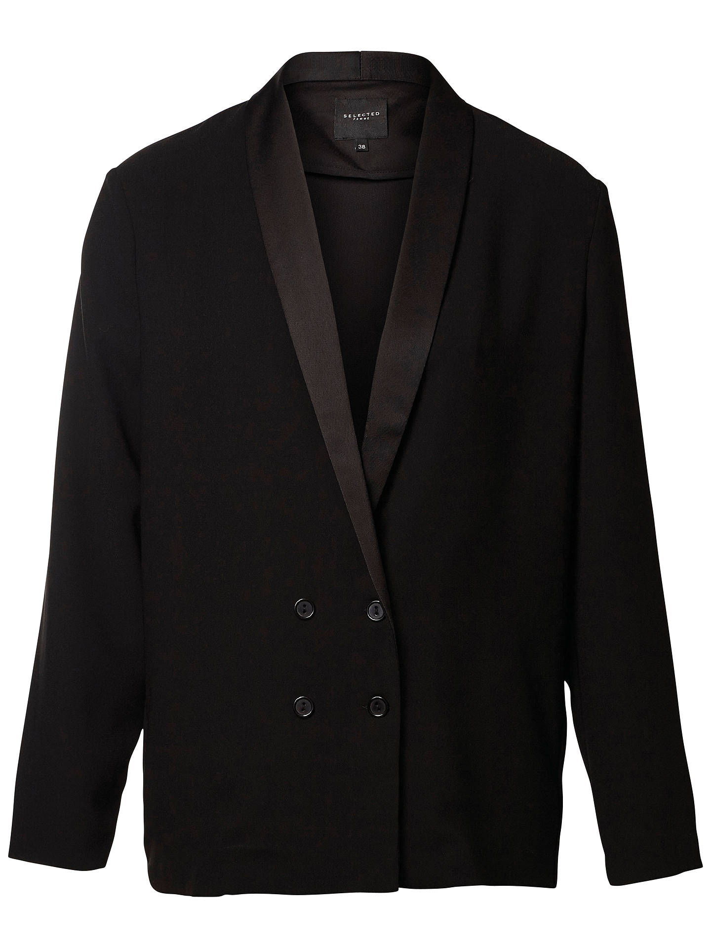 wholesale dealer e1a75 0db47 Buy Selected Femme Melanie Blazer, Black, 6 Online at johnlewis.com