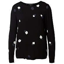 Buy Selected Femme Penny Printed Blouse, Black Online at johnlewis.com