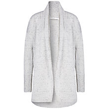 Buy Oui Fine Knit Tweed Effect Cardigan, Light Grey Online at johnlewis.com