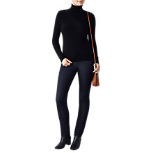 Buy Pure Collection Gabriella Roll Neck Jumper, Black Online at johnlewis.com