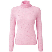Buy Pure Collection Chelsea Roll Neck Jumper, Pink Fleck Online at johnlewis.com