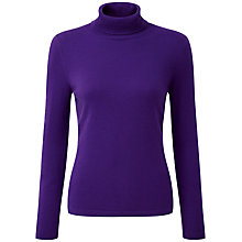 Buy Pure Collection Jenny Roll Neck Jumper, Rich Purple Online at johnlewis.com