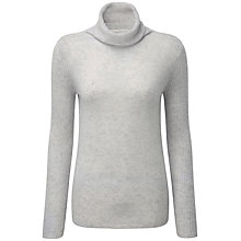 Buy Pure Collection Carla Cashmere Polo Neck Jumper, Iced Grey Online at johnlewis.com