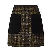 Buy Jigsaw Haze Check Mini Skirt, Black Online at johnlewis.com