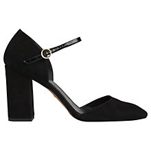 Buy Whistles Jackson Two Part Court Shoes, Black Online at johnlewis.com