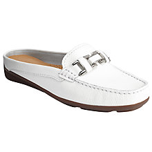 Buy John Lewis Gerda Mule Loafers, White Online at johnlewis.com