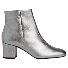 Buy Whistles Logan Block Heeled Ankle Boots, Pewter Online at johnlewis.com