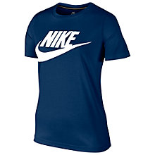 Buy Nike Sportswear Essential T-Shirt, Binary Blue/White Online at johnlewis.com