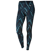 Buy Nike Power Legend Geo Print Training Tights, Squadron Blue/White Online at johnlewis.com