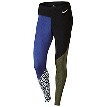 Buy Nike Power Legendary Women's Printed Training Tights, Blue/Green Online at johnlewis.com
