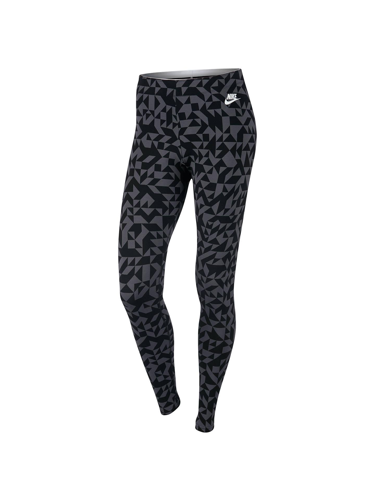 627ac3db88637f Buy Nike Sportswear Club Tangrams Leggings, Black/Grey, XS Online at  johnlewis.