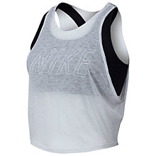 Buy Nike Breathe Training Tank Top, White Online at johnlewis.com