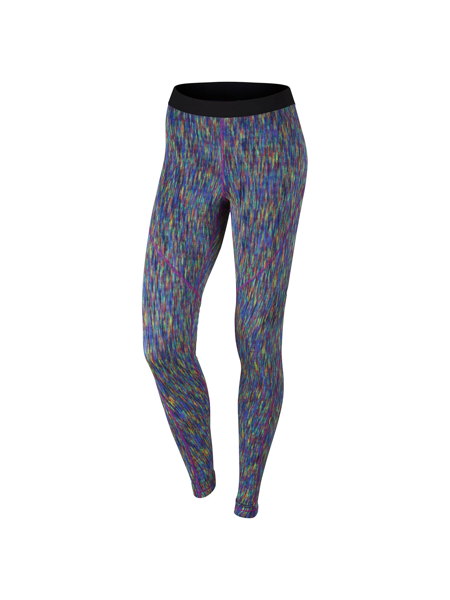 2f6918cb00df31 Buy Nike Pro Hyperwarm Training Tights, Comet Blue/Multi, XS Online at  johnlewis ...