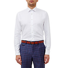 Buy Ted Baker Lohan Cotton Dobby Tailored Fit Shirt, White Online at johnlewis.com