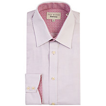 Buy Ted Baker Falcon Cotton Dobby Tailored Shirt, Lilac Online at johnlewis.com
