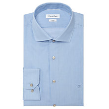 Buy Calvin Klein Rome Fitted Easy Iron Shirt, Blue/White Online at johnlewis.com