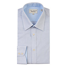 Buy Ted Baker Blaize Dash Stripe Tailored Fit Shirt, Blue Online at johnlewis.com