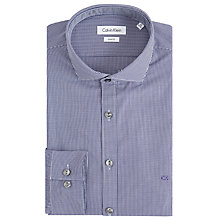 Buy Calvin Klein Norwich Micro Gingham Sim Fit Shirt, Purple Online at johnlewis.com