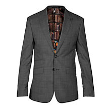 Buy Ted Baker Casej Wool Check Tailored Suit Jacket, Charcoal Online at johnlewis.com