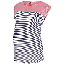 Buy Séraphine Juno Stripe Nursing Function Maternity Top, Blue/Red Online at johnlewis.com
