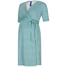 Buy Séraphine Mallory Wrap Maternity Dress, Green Online at johnlewis.com