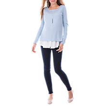 Buy Séraphine Trisha Maternity Nursing Shirt Jumper, Blue/White Online at johnlewis.com