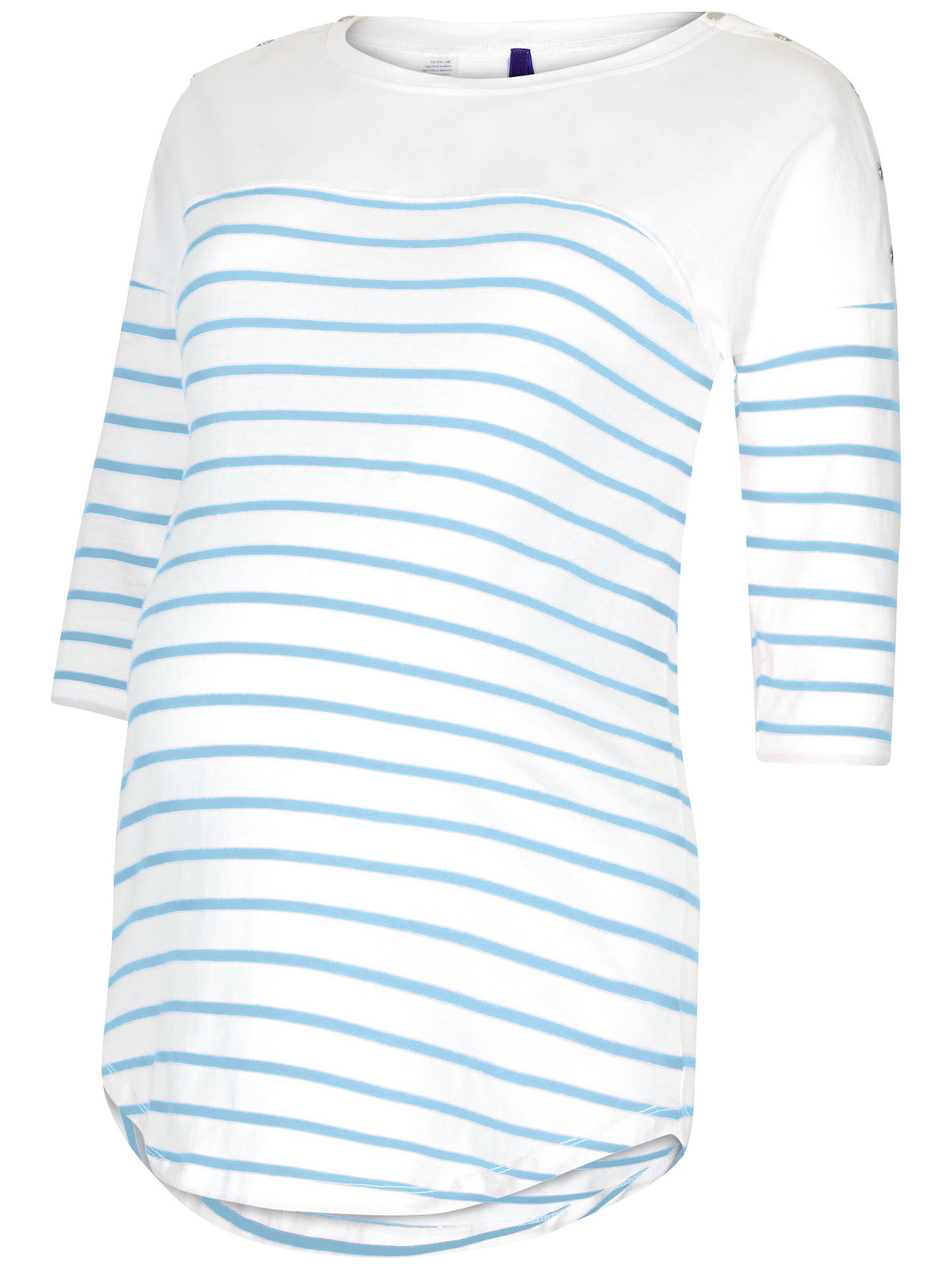 BuySéraphine Jillian Striped Maternity Nursing Top, Blue/White, 8 Online at johnlewis.com