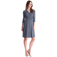 Buy Séraphine Pia Patterned Maternity Nursing Dress, Dark Grey/White Online at johnlewis.com