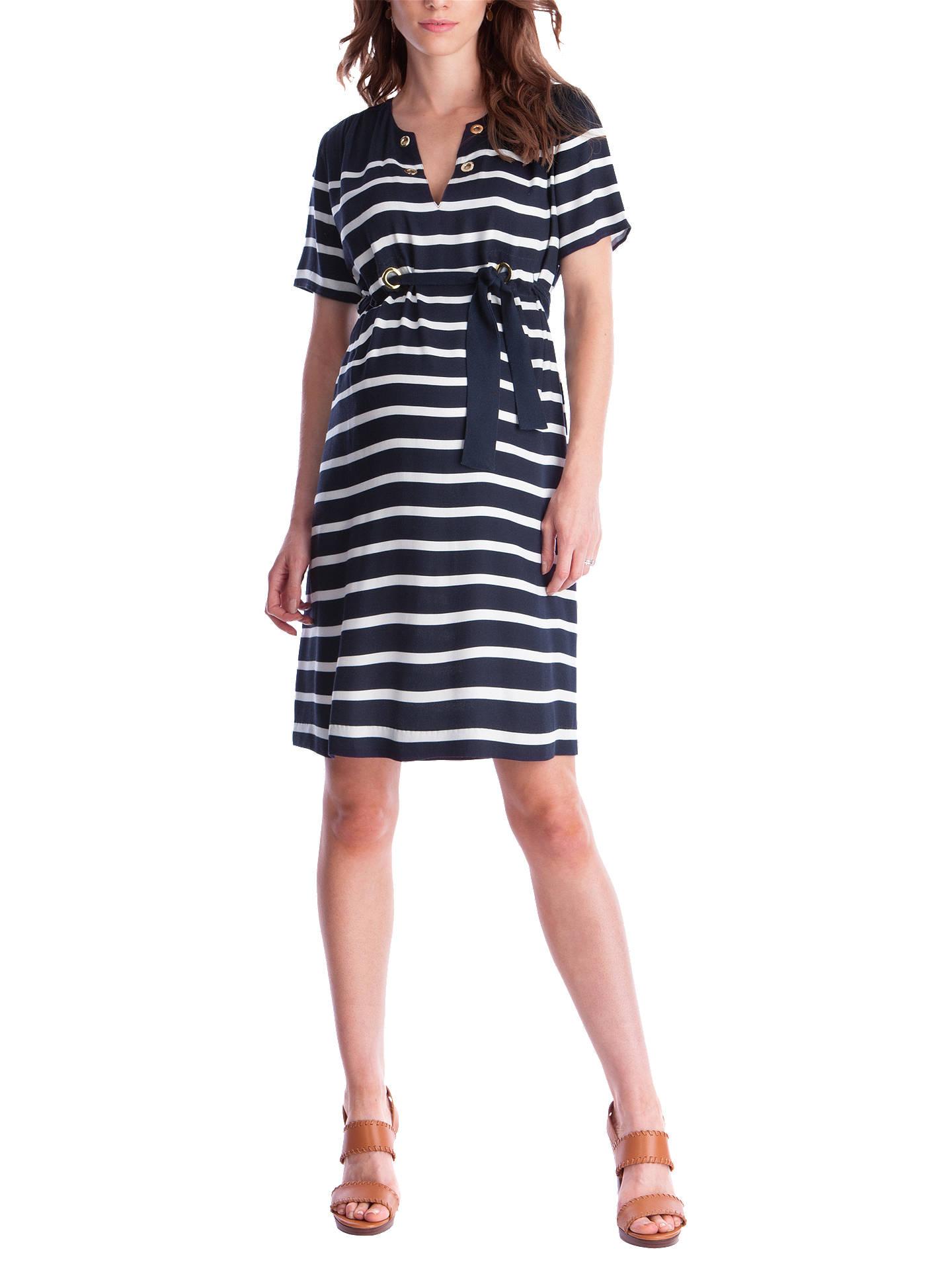 c932d61735095 Buy Séraphine Mattie Nautical Maternity Dress, Blue/White, 8 Online at  johnlewis.