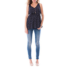 Buy Séraphine Eiza Spot Maternity Top, Navy/white Online at johnlewis.com